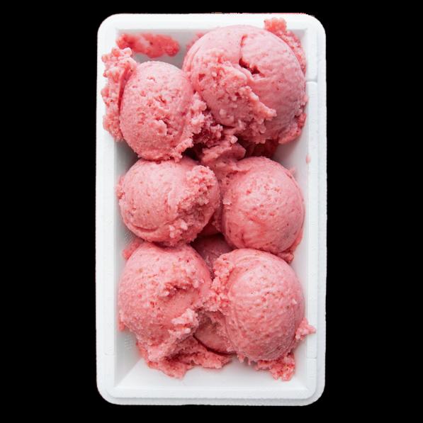 gelado de morango